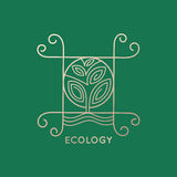 Дерево логотипа абстрактное Стоковые Изображения
