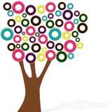 Дерево донута стиля шаржа на белой предпосылке Стоковая Фотография RF