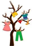Дерево одежд вектора Стоковое Изображение