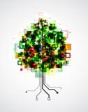 Дерево пиксела иллюстрация штока