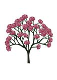 Дерево, подняло, цветок Стоковые Изображения