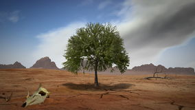 Дерево пустыни, перевод 3D иллюстрация вектора