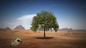 Дерево пустыни, перевод 3D иллюстрация штока