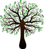 Дерево развития доллара зеленого цвета дерева Иллюстрация вектора