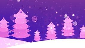 Дерево 4 рождества бумажное сток-видео