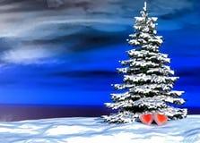 Дерево сердец в влюбленности Стоковое Фото