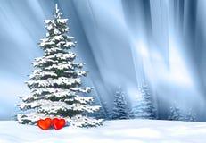 Дерево сердец в влюбленности Стоковая Фотография RF