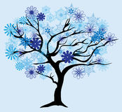 Дерево снега зимы вектора иллюстрация штока