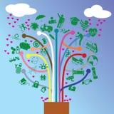 Дерево страхования Иллюстрация штока