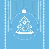 Дерево с звездами в шарике xmas Стоковые Фотографии RF