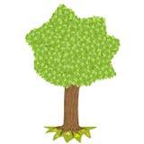 Дерево с зеленой кроной иллюстрация вектора