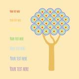 Дерево с кругами радуги Стоковое фото RF