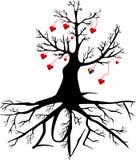 Дерево с сердцами и словом ВЛЮБЛЕННОСТЬЮ Стоковое Фото