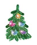 Дерево с шариками Стоковая Фотография