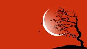 Дерево дуя в предпосылке вектора ветра бесплатная иллюстрация