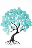 Дерево шаржа с красочным confetti стоковое фото rf