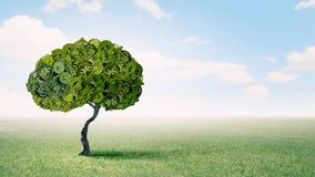Дерево шестерней зеленое стоковое изображение