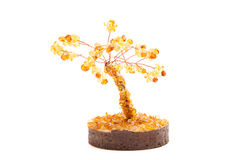 Дерево янтаря счастья изолированное над белизной Стоковые Изображения
