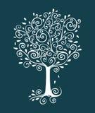 Дерево Curlicue иллюстрация вектора