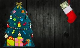 Дерево hristmas ¡ Ð сеть универсалии шаблона страницы приветствию рождества карточки предпосылки Стоковые Фотографии RF