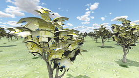 Деревья евро иллюстрация штока