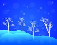 Деревья зимы в сугробах Стоковое Изображение RF