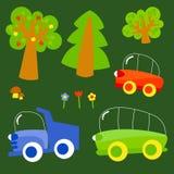 Деревья и перевозка бесплатная иллюстрация