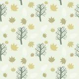 Деревья и предпосылка листьев Стоковая Фотография RF
