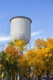 Деревья осени водонапорной башни Стоковая Фотография