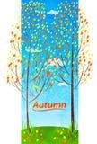 Деревья осени, природа Стоковое Изображение RF