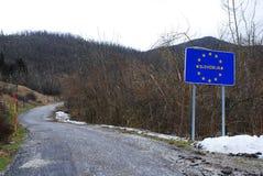 Деревья поврежденные гололедью на границе Итали-Словении Стоковые Фотографии RF