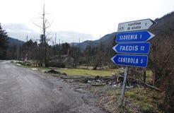 Деревья поврежденные гололедью около Canebola Стоковое Фото