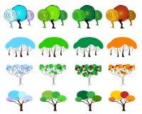 Деревья 4 сезонов иллюстрация вектора