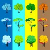 Деревья 4 сезонов иллюстрация штока