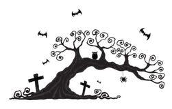 Деревья хеллоуина Стоковое Изображение RF
