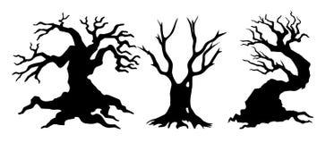 Деревья хеллоуина бесплатная иллюстрация