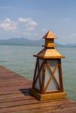 Деревянная лампа Стоковые Изображения