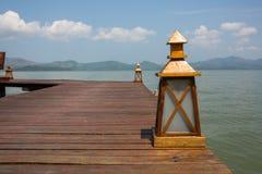 Деревянная лампа Стоковые Фото