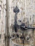 Деревянная античная дверь Стоковое Фото