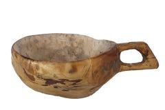 Деревянная античная чашка Стоковая Фотография