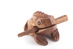 Деревянная аппаратура percusion ритма жабы Стоковая Фотография RF