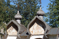 Деревянная архитектура в Velikiy Новгороде, России Стоковые Фото