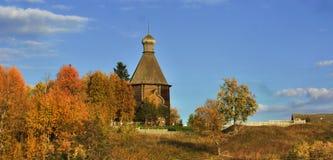 Деревянная архитектура русского севера стоковое изображение