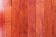 Деревянная бамбуковая предпосылка текстуры зерна настила Стоковое Изображение RF
