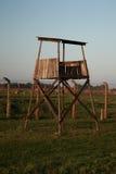 Деревянная башня вахты предохранителя, Освенцим стоковая фотография