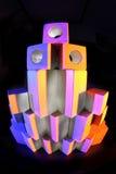 Деревянная башня кирпича Стоковое Фото