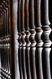 Деревянная балюстрада Стоковые Изображения RF