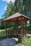 Деревянная беседка в парке Стоковые Фото
