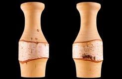 Деревянная ваза Стоковые Фото