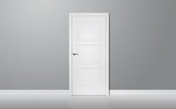 Деревянная дверь в пустой комнате Стоковые Фотографии RF